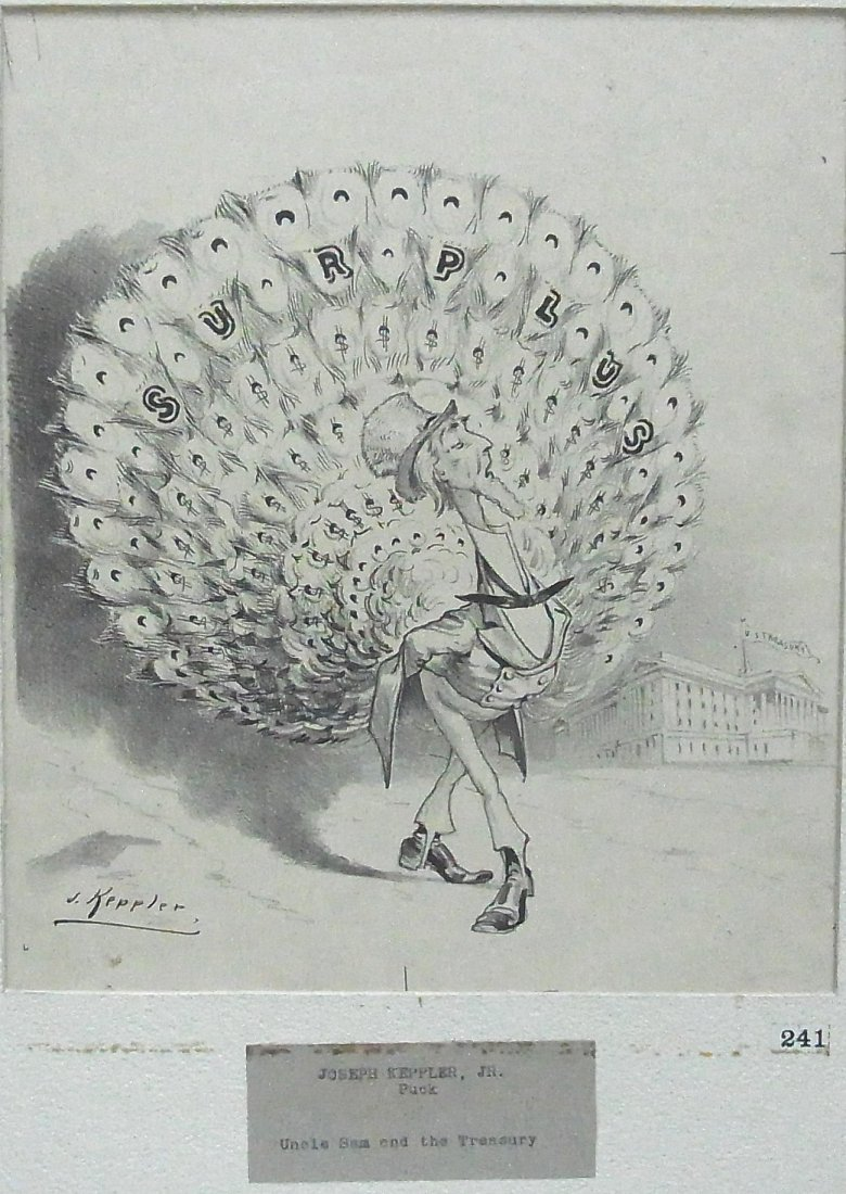 20:Joseph Keppler. Puck Magazine New York Uncle Sam