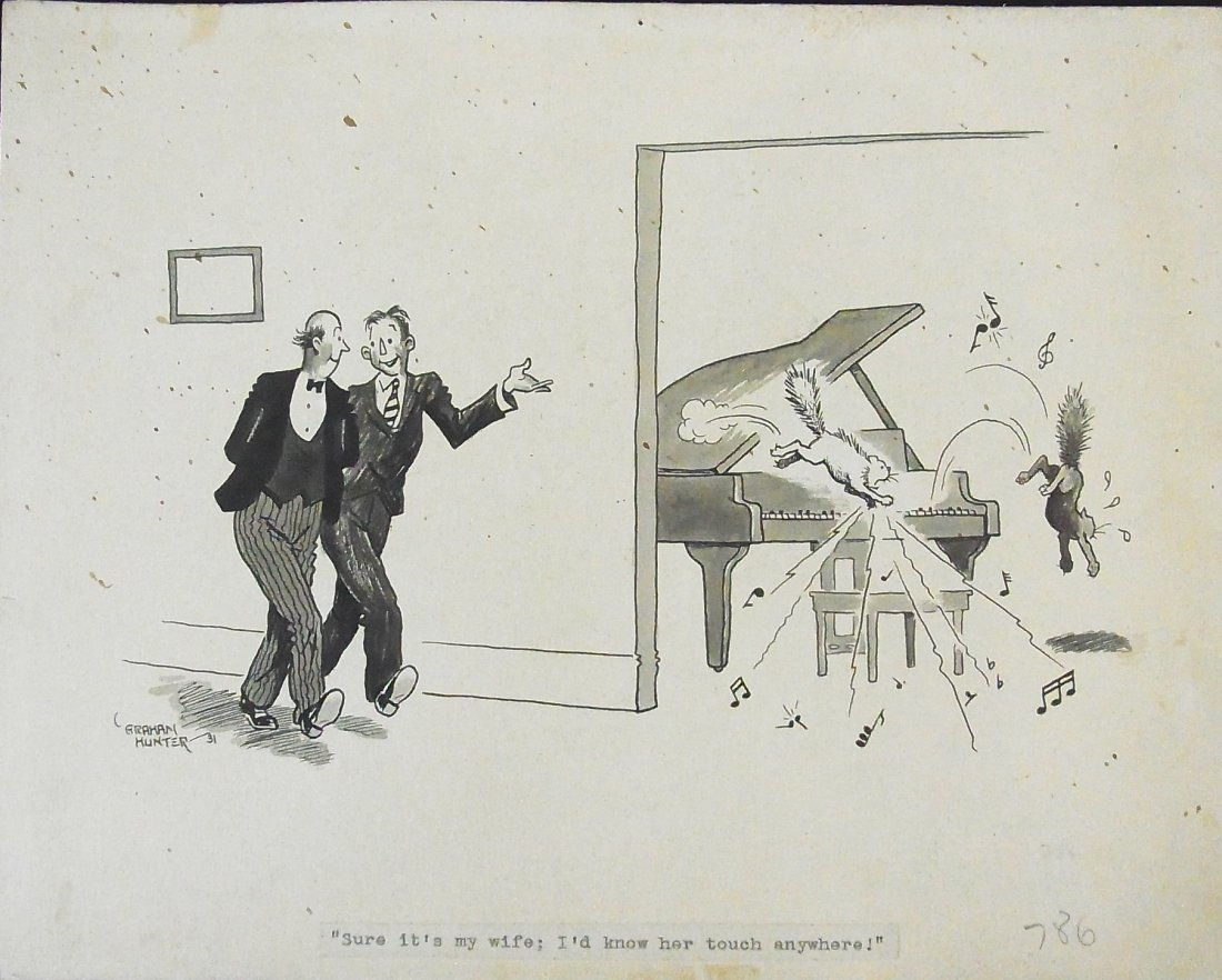 12: Jay Graham Hunter 1931 Cats on the Piano Large Edit