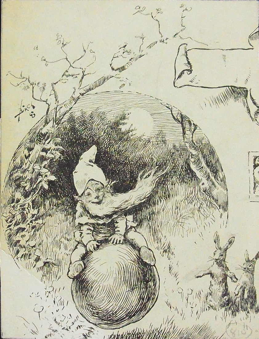 18: Reginald Bathurst Birch Nymph Gnome Elf with Rabbit