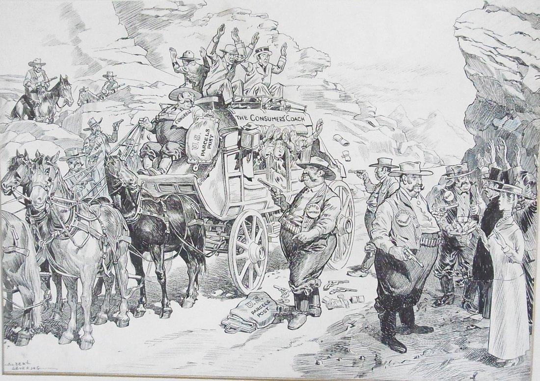 11: Albert Levering Puck 1911 ANTI TRUST Post Office Co
