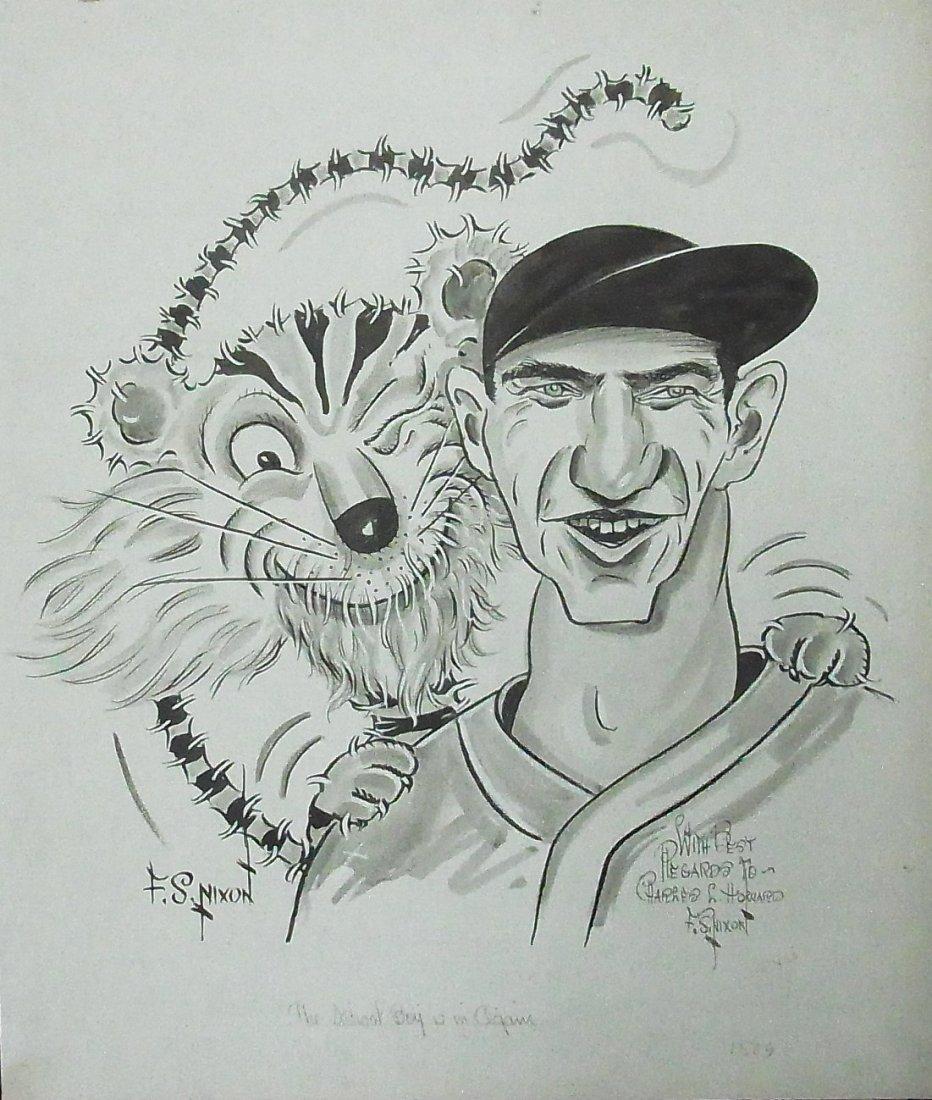 43: Floyd Sherman Nixon Baseball Detroit Tigers Paws Ly