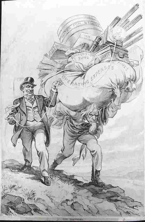 Udo Keppler Joseph Puck Magazine Uncle Sam Railroa