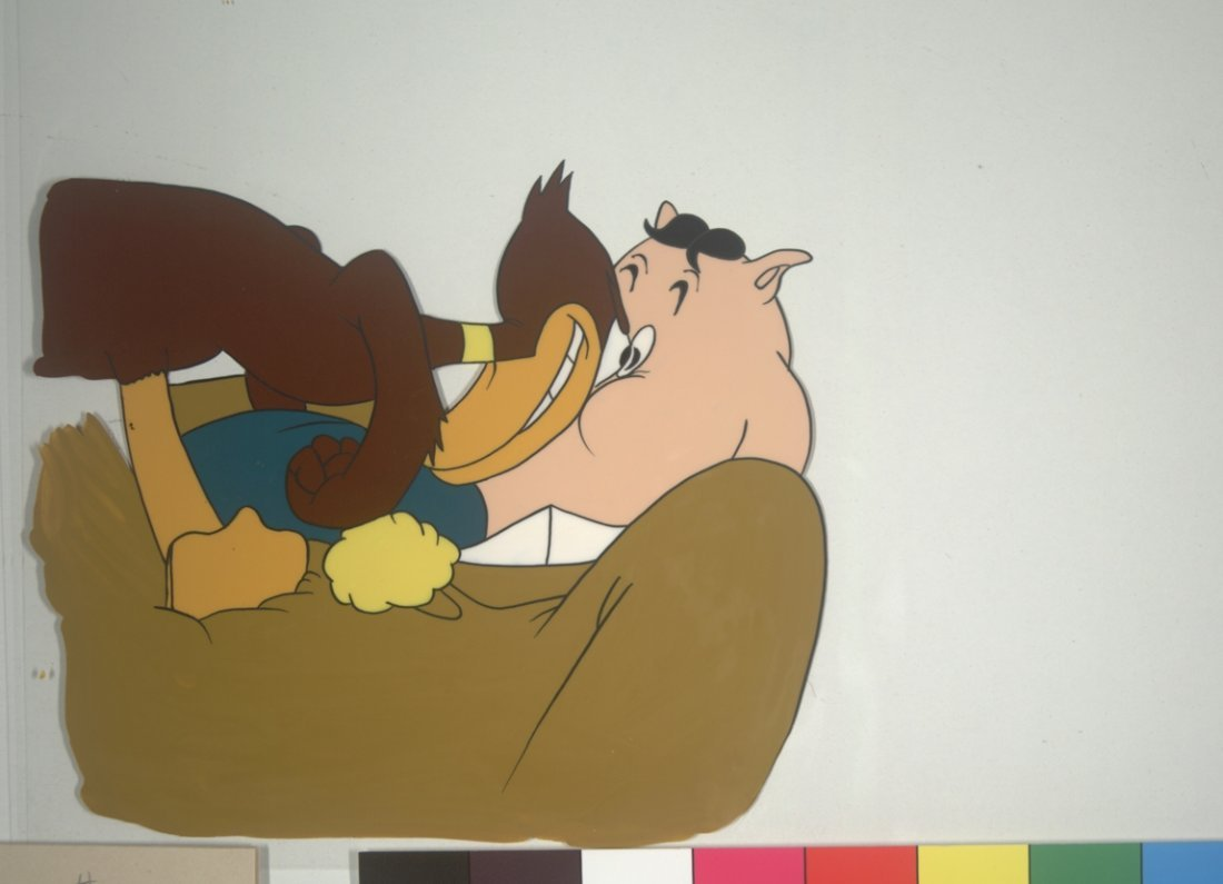 Daffy Duck and Pig Warner Brothers Subject Matter circa