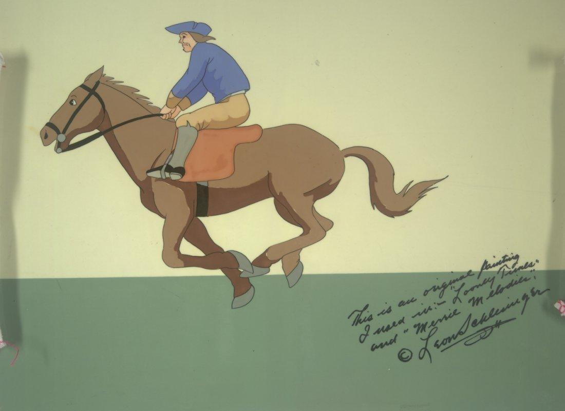 20: SIGNED Looney Tunes Horseman wearing Tri-corn Hat W