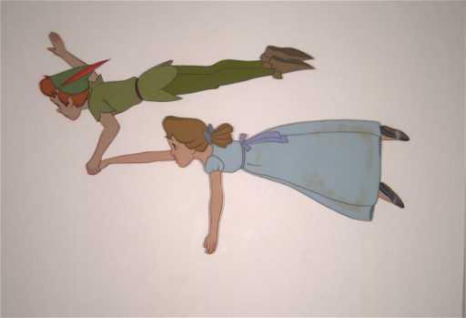 26 Peter Pan And Wendy Flying Walt Disney P