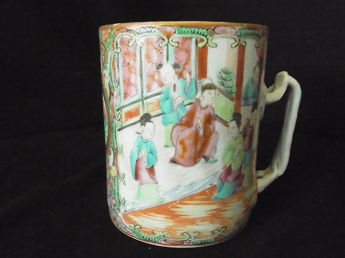 Pottery Porcelain Ceramic Famaille Rose Medallion 4 3/4