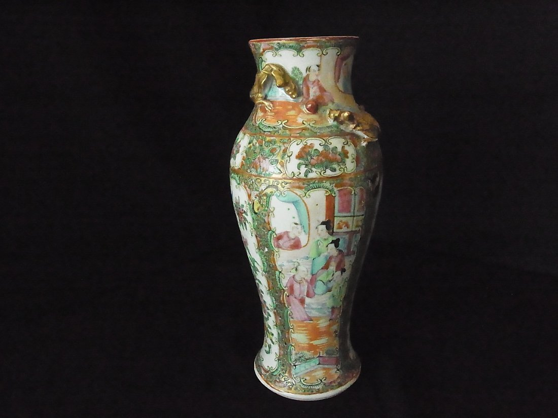 Famaille Rose Medallion Pottery Porcelain Ceramic Vase