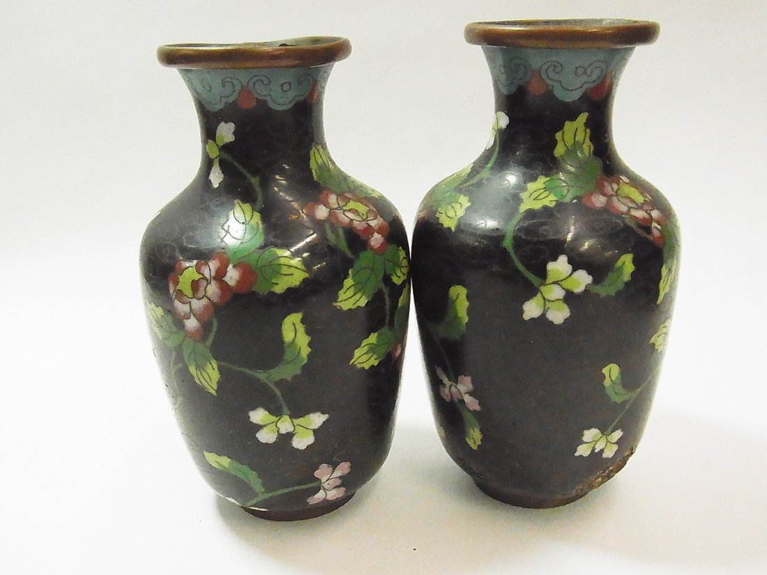 """10: Late Qing Ca. 1900 Signed China 5"""" Vases"""