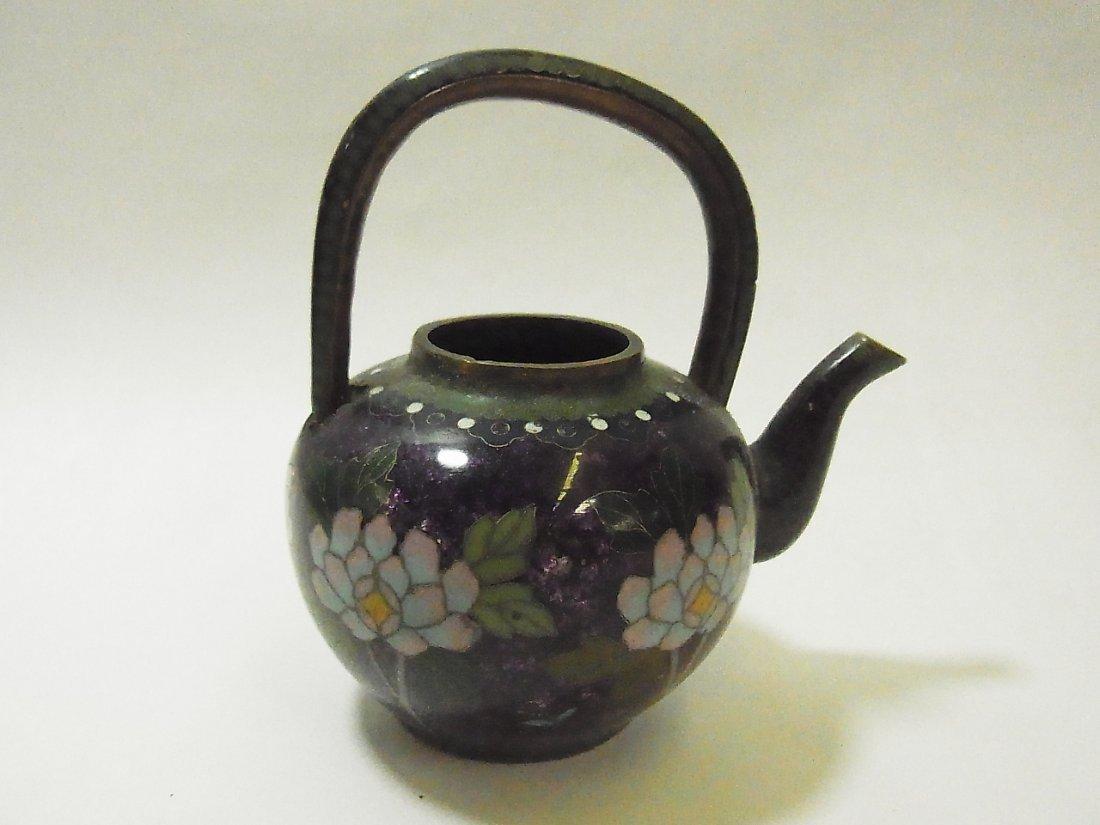 13: Antique Cloisonné Miniature Teapot