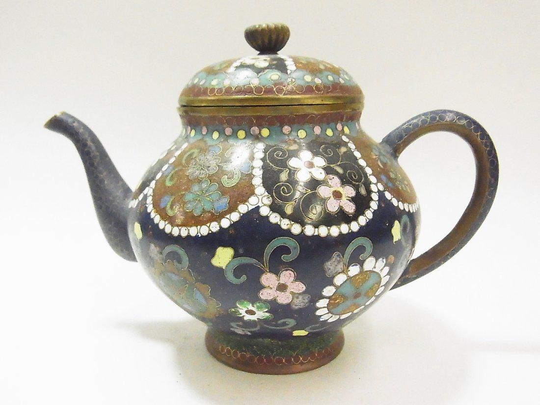 21: Antique Cloisonné Miniature Teapot