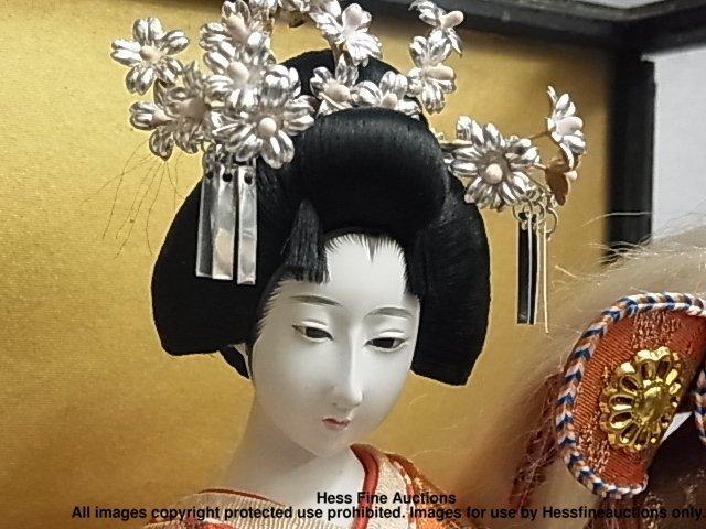 67: Japanese Porcelain Geisha Doll Signed Stamped Plaqu - 3