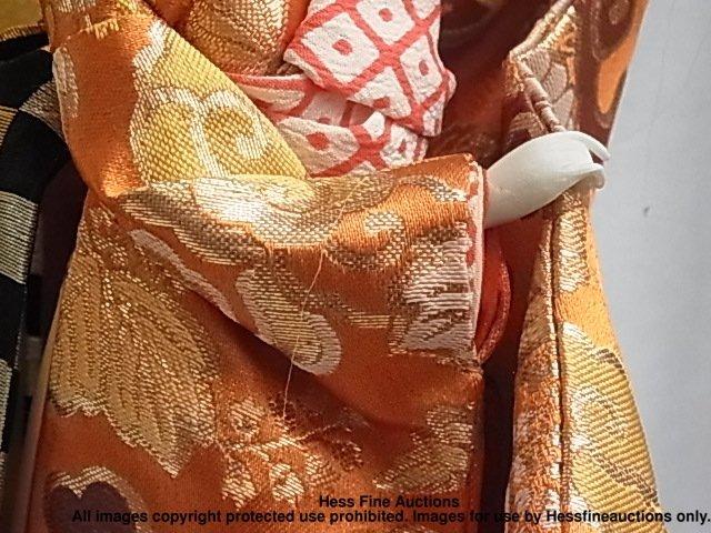 67: Japanese Porcelain Geisha Doll Signed Stamped Plaqu - 4