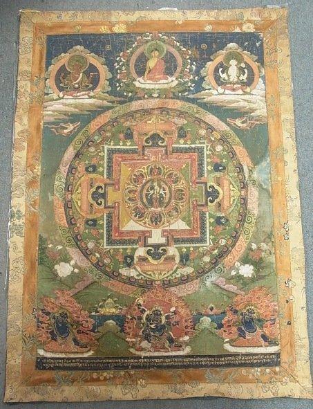 Nepal thanka Mandala Newari Paubhas TIbet thangka 17/18