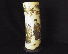 Important Monumental Shibayama Antique Japanese Ivory T