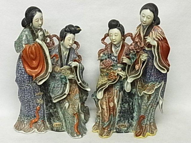 Important Double Signed Pair Brocade Imari Satsuma or R