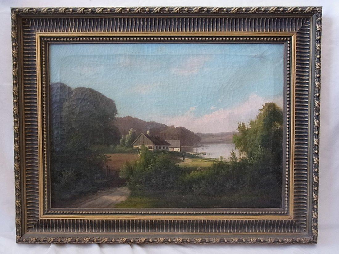 Antique Late 19 th Century Gerhard HEILMANN Lake View F