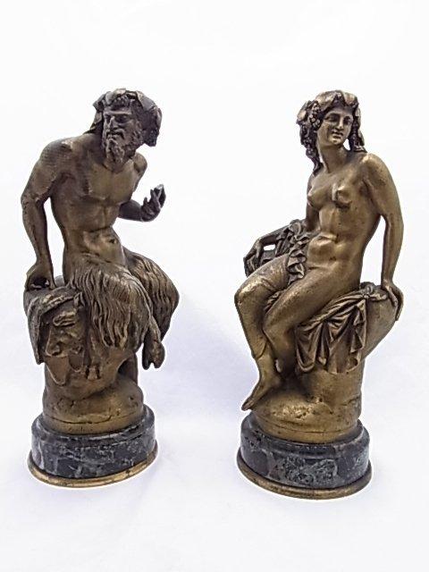 Pair Jean-Baptiste Clesigner Gilt Dore Bronze Cabinet S
