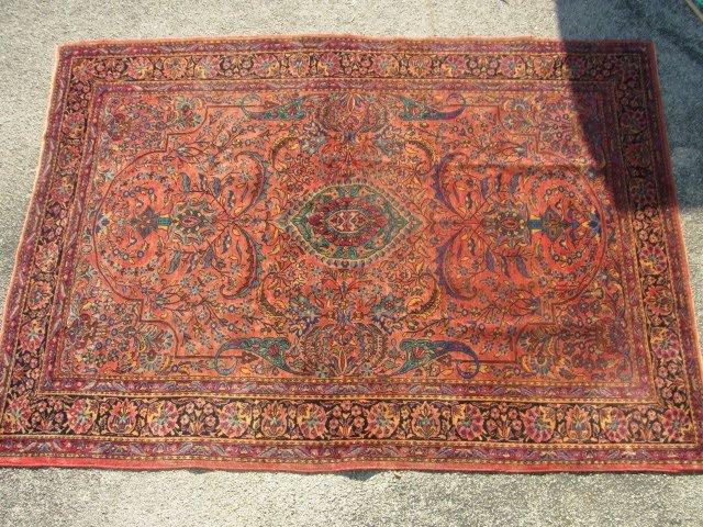 Ferahan Sarouk Or Isfahan Carpet 10' x 6' Pre War WWII