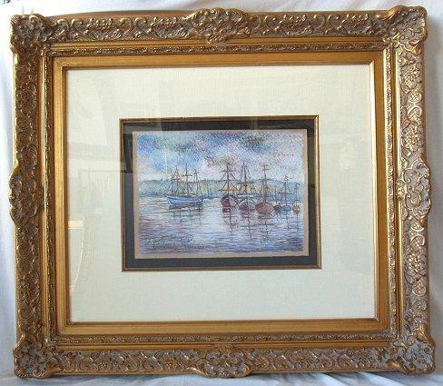 Original Paul Emile Pissarro Signed Pastel Postimpressi
