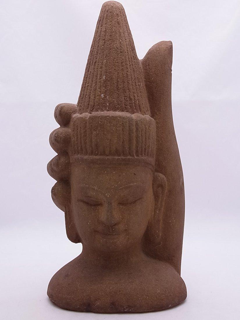 Identified Asian Buddha Mudra Hindu Stone or Cast Statu