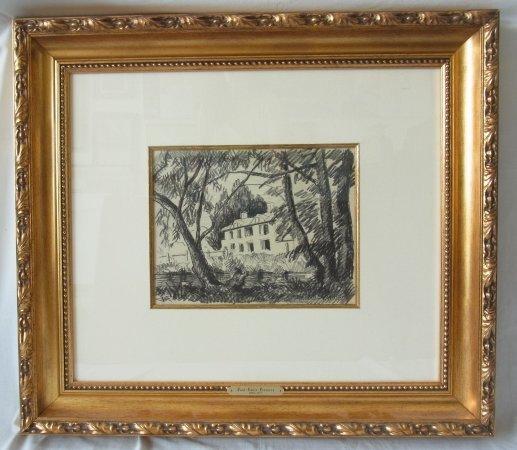 Original Paul Emile Pissarro ARTISTS MASION Charcoal Dr