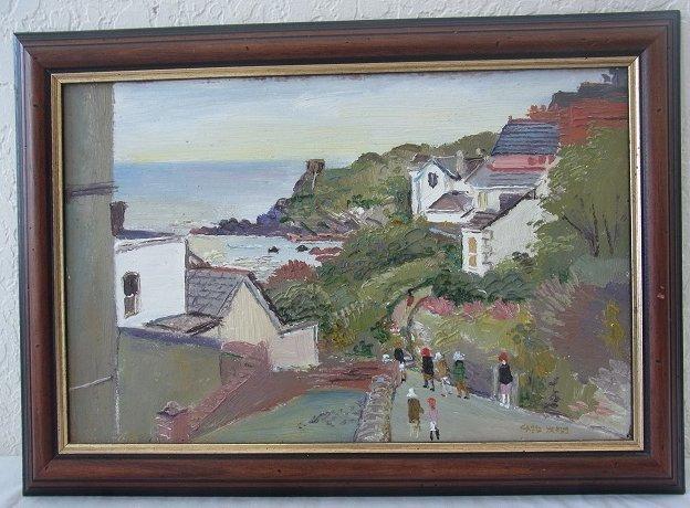 Fred YATES Original English Cornwall Seascape Oil Paint
