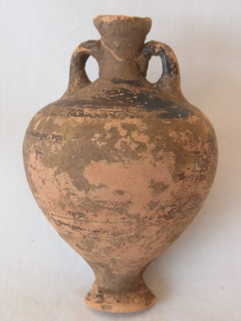 Maritime Antiquity Greek Terracotta Pottery Artifact At