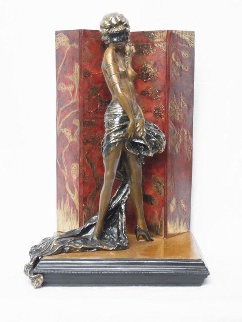Vintage Louis Icart Belle Epoque 1986 Erotic Bronze Fi