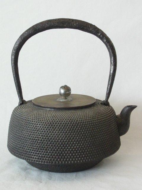 Antique Signed Japanese Iron Ware Oigen Nambu Tetsubin