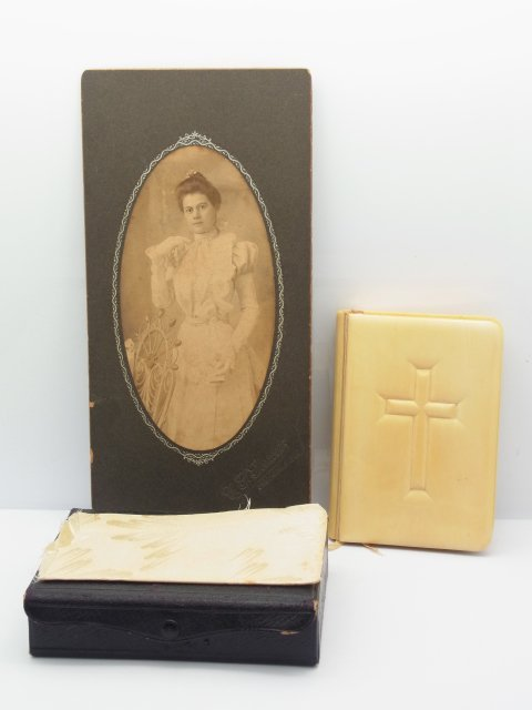 Exquisite 1800s Ivory Bound Hardcover Prayer Book Bible
