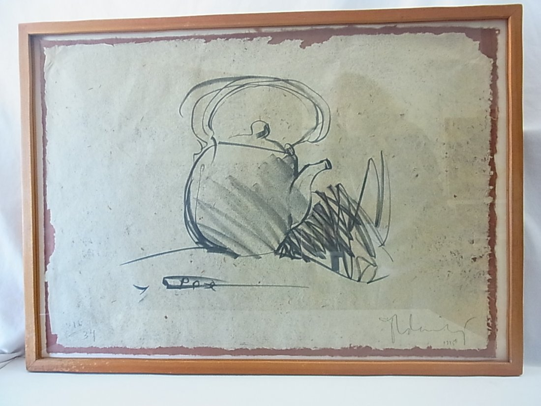 Claes Oldenburg 1975 Teapot Ltd Ed34 Stone Lithograph P