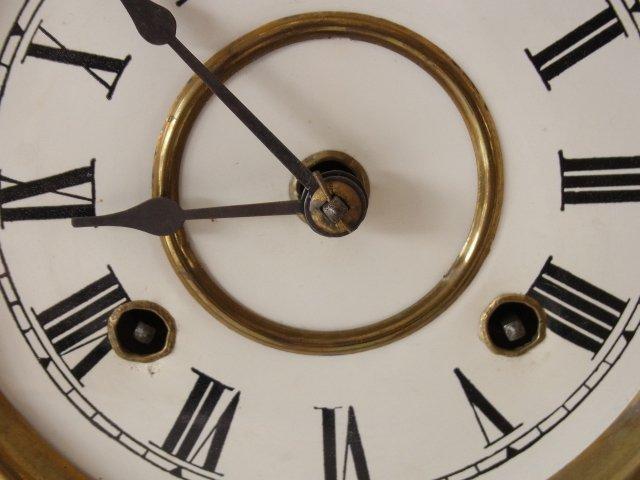 Victorian c 1875 Oak Gingerbread Handmade Mantle Clock - 3