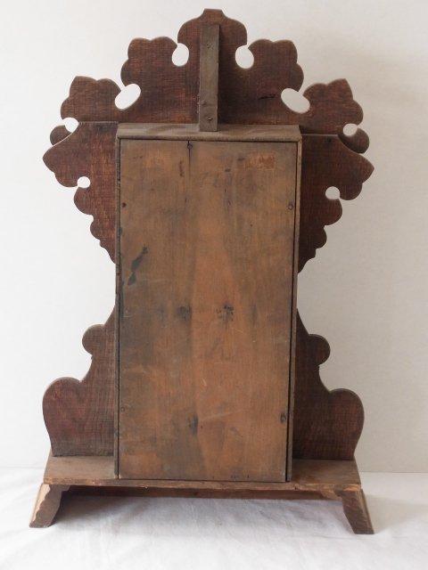 Victorian c 1875 Oak Gingerbread Handmade Mantle Clock - 5