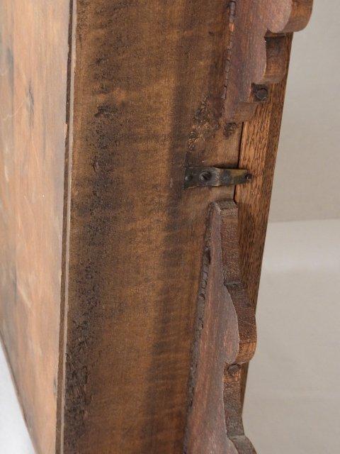 Victorian c 1875 Oak Gingerbread Handmade Mantle Clock - 9