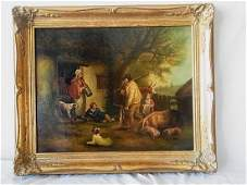 Orig 19C George Moreland Oil Painting The Warrener with