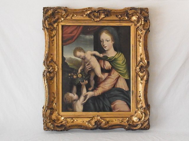 Madonna & Child with Infant St. John Northern Renaissan