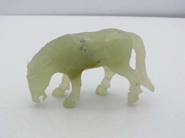 Fine Expertly Hand Carved Old Pale to Spinach Jade with