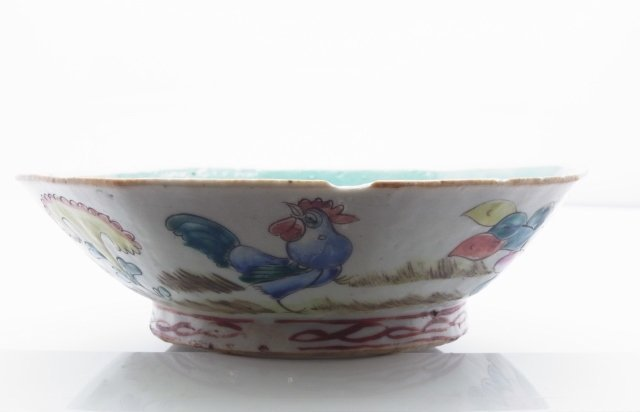 Antique Qing Dynasty Famille Rose Chinese hand Enameled