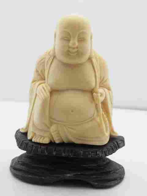 Antique Carved Japanese Maitreya Laughing Smiling Buddh