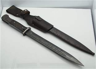 42 CVL Mauser Bayonet Knife with Matching Scabbard and