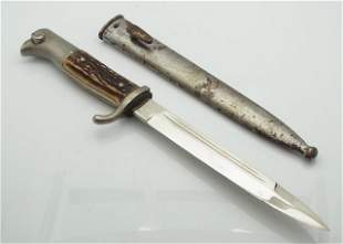 WKC WWII Military Horn Handled Dagger Knife with Scabba