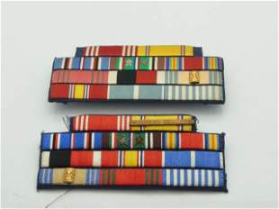 Two United States US Military War Foreign Service Ribbo