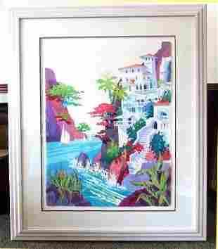 Lg Orig Kenneth Hawk Tropical Seascape Portofino Italy