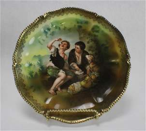 """RS Prussia Porcelain """"Melon Eaters"""" Plate"""