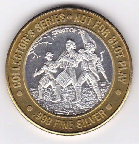 3: Silver Taj Mahal Casino Collectors Coin