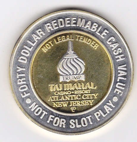 3A: Silver Taj Mahal Casino Collectors Coin