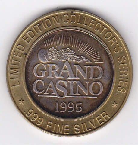 3B: Silver 1995 Grand Casino Collectors Coin