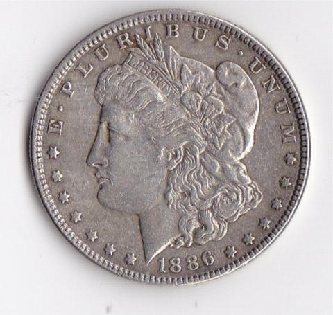 11: 1886 Silver Morgan Dollar