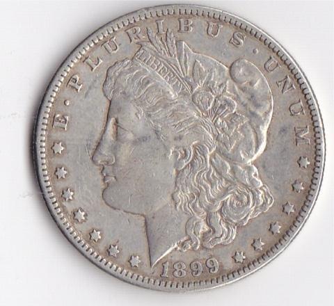 11A: 1899O Silver Morgan Dollar