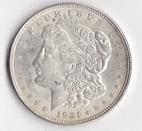 11B: 1921 Silver Morgan Dollar